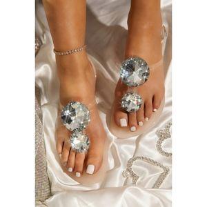 Just In!!💎🖤Gemstone Sparkling Sandal - Nude